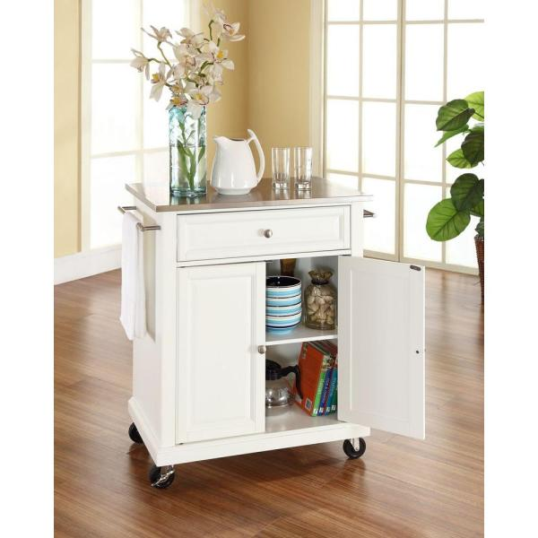 Crosley Rolling White Kitchen Cart With Stainless Top Kf30022ewh The Home Depot,Lebanon New Hampshire Airport