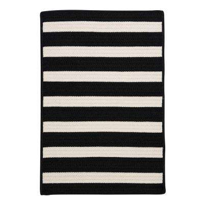 Baxter Black White 2 ft. x 4 ft. Indoor/Outdoor Braided Area Rug