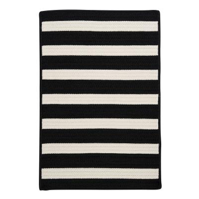 Baxter Black White 2 ft. x 12 ft. Braided Indoor/Outdoor Runner Rug