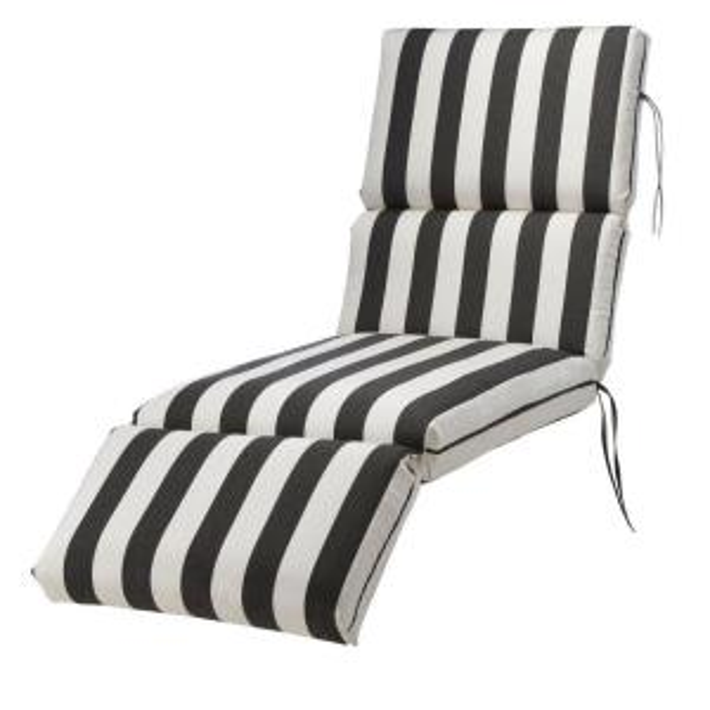 Elegant Home Decorators Collection Sunbrella Maxim Classic Outdoor Chaise Lounge  Cushion 1573620260   The Home Depot