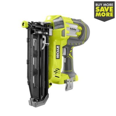 18-Volt ONE+ Lithium-Ion Cordless AirStrike 16-Gauge Cordless Straight Finish Nailer (Tool Only) with Sample Nails