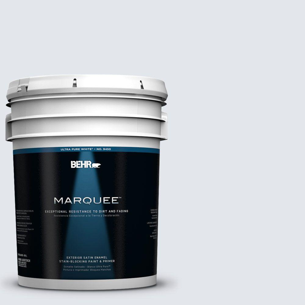BEHR MARQUEE 5-gal. #610E-2 Winter Day Satin Enamel Exterior Paint
