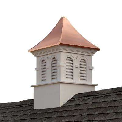 Smithsonian Columbia 30 in. x 30 in. x 51 in. Vinyl Cupola with Copper Roof