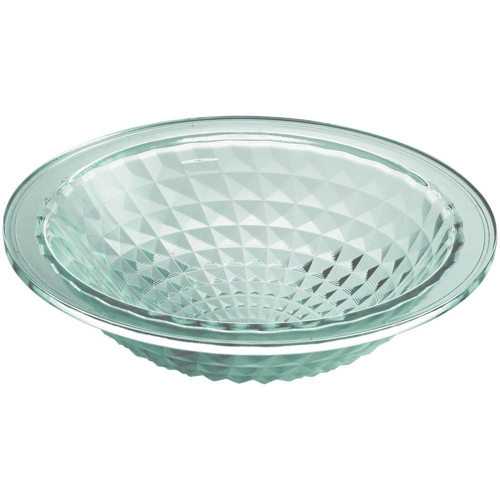 Kohler Kallos Undermount Gl Bathroom Sink In Translucent Dew