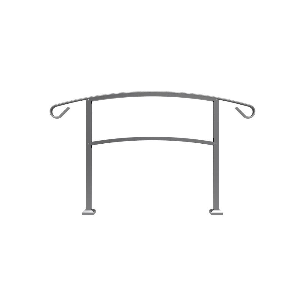 HandiRail 3.57 in. x 63.25 in. x 3.10 ft. Aged Bronze 4-Step Aluminum Rail Kit (Unassembled)