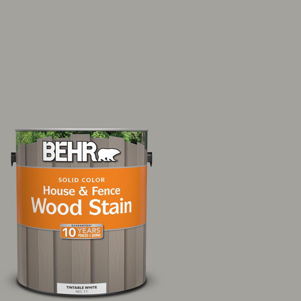 1 gal. #6694 Silver Gray Solid House and Fence Wood Stain
