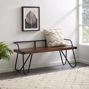 Fine Southern Enterprises Gertie Dark Tobacco Entryway Bench Caraccident5 Cool Chair Designs And Ideas Caraccident5Info