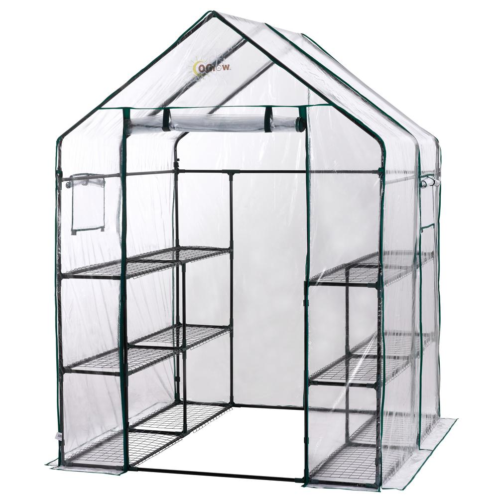 5 TIER SHELVES GREENHOUSE WITH COVER REMOVABLE PLANT PROTECTION PVC HEAVY DUTY
