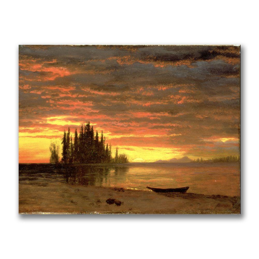 Trademark Fine Art 24 in. x 32 in. California Sunset by Albert Bierstadt Canvas Art