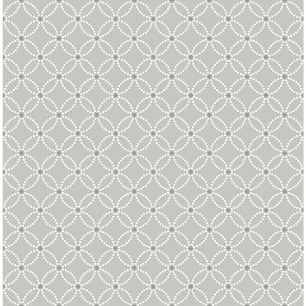 A-Street Kinetic Grey Geometric Floral Wallpaper Sample 2625-21843SAM