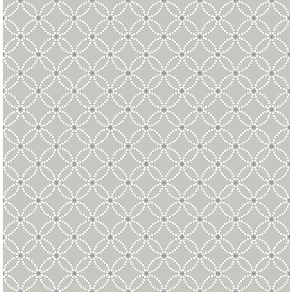 Kinetic Grey Geometric Floral Wallpaper Sample