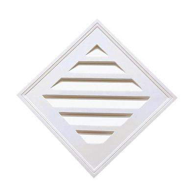 24-1/4 in. x 24-1/4 in. x 2 in Polyurethane Decorative Diamond Louver Vent in White