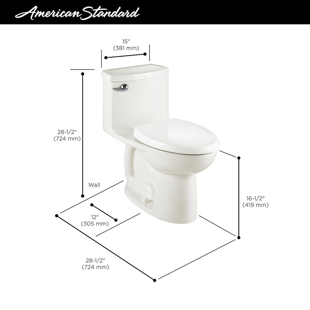 Superb American Standard Compact Cadet 3 Flowise Tall Height 1 Piece 1 28 Gpf Single Flush Elongated Toilet In Bone Seat Included Andrewgaddart Wooden Chair Designs For Living Room Andrewgaddartcom