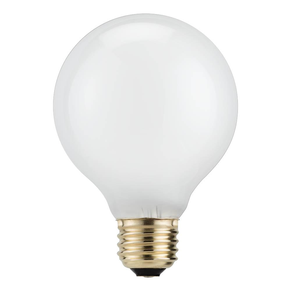 40 Watt Halogen Light Bulbs: Philips 40-Watt Equivalent G25 Halogen White Decorative