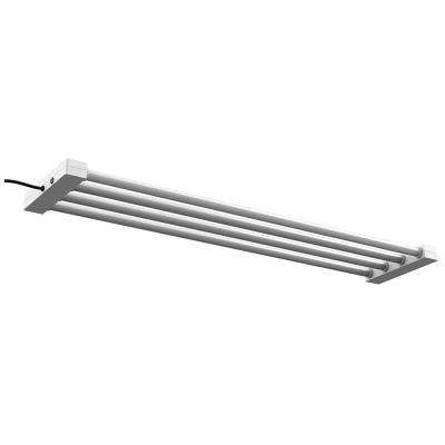 4 ft. 4-Light 76-Watt White Integrated LED Utility Shop Light Fixture