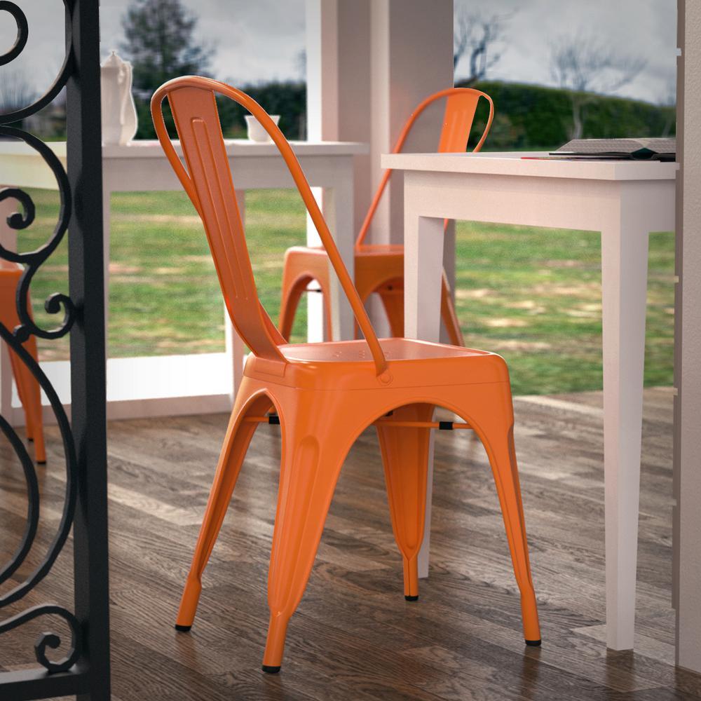 Trattoria Orange Side Chair (Set of 4)