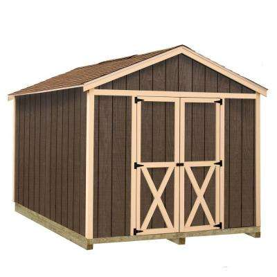 Danbury 8 ft. x 12 ft. Wood Storage Shed Kit with Floor Including 4 x 4 Runners