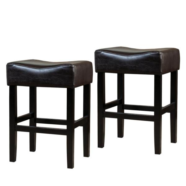 Portman 26 in. Brown Backless Counter Stools (Set of 2)