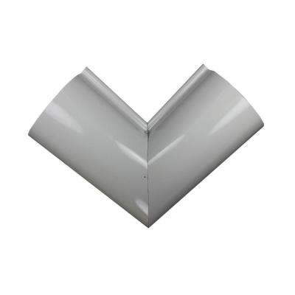 6 in. Half Round High Glass White Aluminum Inside Miter