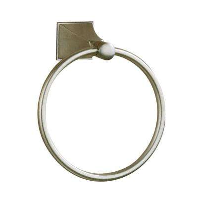Memoirs Towel Ring in Vibrant Brushed Nickel