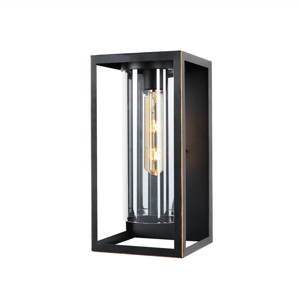 Imperial Home Decor: Y Decor Medium 1-Light 16 In. Outdoor Imperial Black Wall
