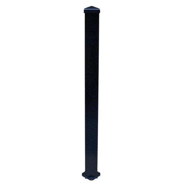 3 in. x 3 in. x 72 in. Textured Black Structural Aluminum Post