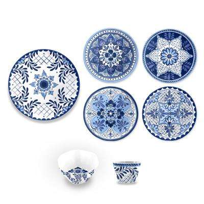 Cobalt Casita Blue 16-Piece Dinnerware Set