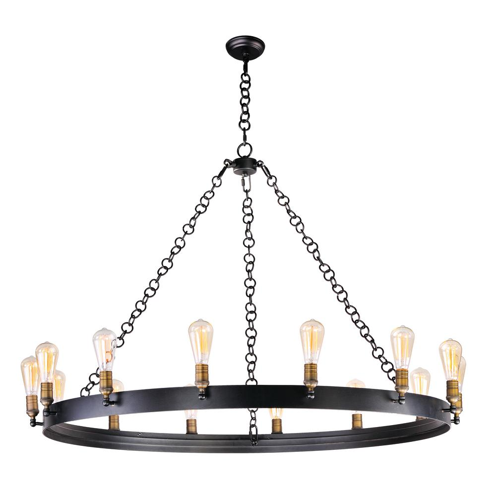 Maxim Lighting Noble 14-Light Natural Aged Brass Chandelier Maxim Lighting's commitment to both the residential lighting and the home building industries will assure you a product line focused on your lighting needs. With Maxim Lighting accessories you will find quality product that is well designed, well priced and readily available. Maxim has fixtures in a variety of styles and a strong presence in the energy-efficient lighting industry, Maxim Lighting is the clear choice for quality lighting.
