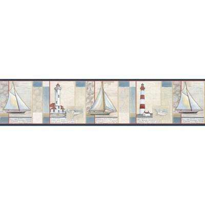 Mashpee White Crossing Wallpaper Border