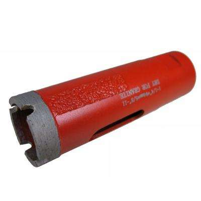 1-1/4 in. Dry Diamond Core Bit with Side Strips for Granite Drilling