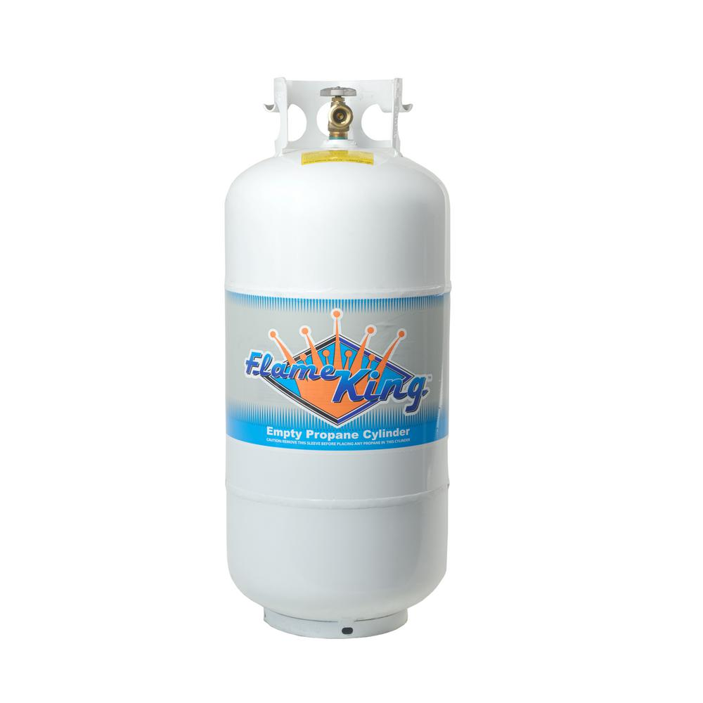 40 lb. Empty Propane Cylinder with Overfill Protection Device Valve
