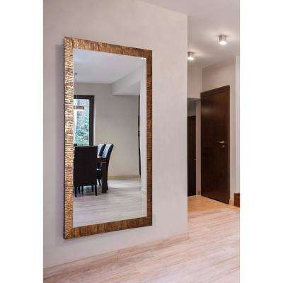76 in. x 37 in. Safari Bronze Double Vanity Wall Mirror