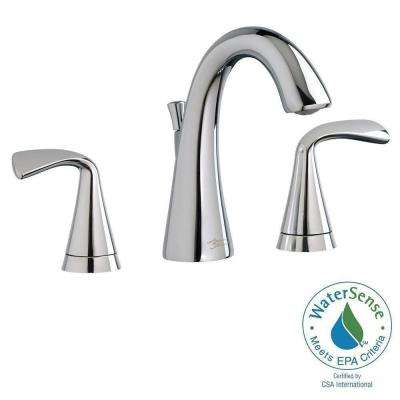 Fluent 8 in. Widespread Bathroom Faucet with Speed Connect Drain in Polished Chrome