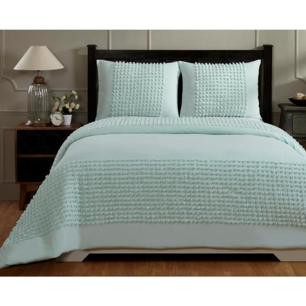 Better Trends Olivia Turquise King Comforter SS-QUOLKITQ