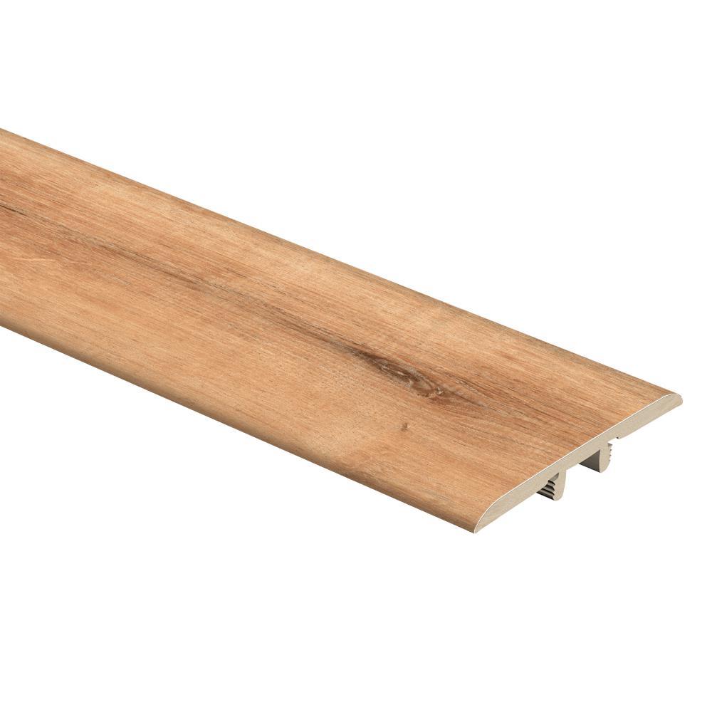 Zamma Fresh Oak/Elk Wood 1/3 in. Thick x 1-3/4 in. Wide x 72 in. Length Vinyl T-Molding