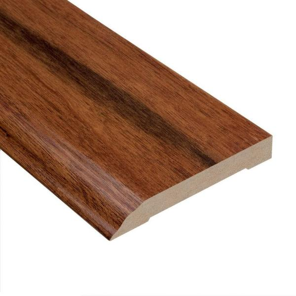 Manchurian Walnut 1/2 in. Thick x 3-1/2 in. Wide x 94 in. Length Wall Base Molding