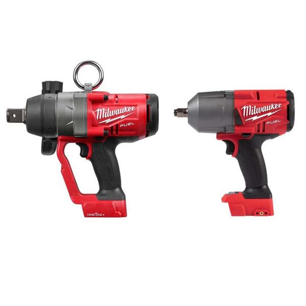 M18 FUEL 18-Volt Lithium-Ion Brushless Cordless 1 in. and 1/2 in. Impact Wrench with Friction Ring (2-Tool)