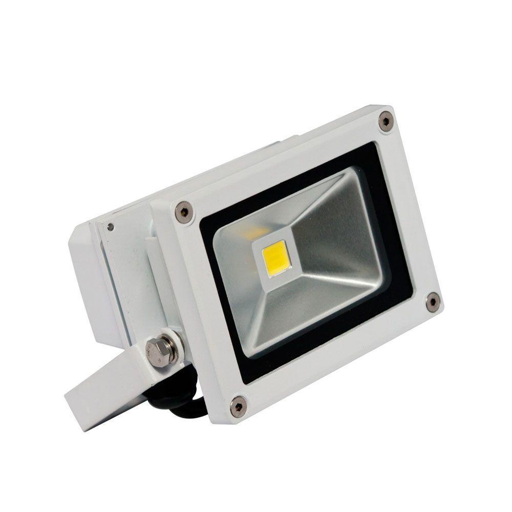 1-Head White LED Soft White Outdoor Wall-Mount Mini Flood Light