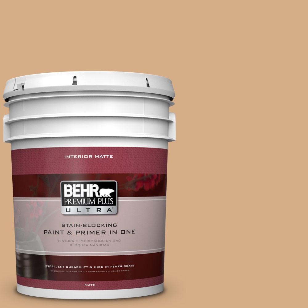 5 gal. #BXC-67 Santa Fe Tan Matte Interior Paint
