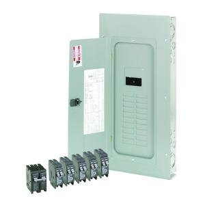 br 200 amp 20 space 40 circuit indoor main breaker loadcenter with cover  value pack (
