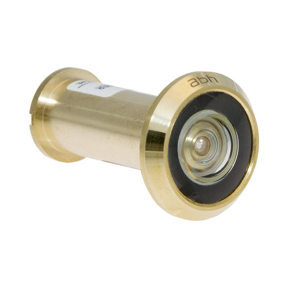 200-Degree Bright Brass Door Viewer with Glass Lenses