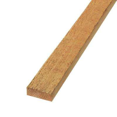 2 in. x 4 in. x 6 ft. Rough Sawn Western Red Cedar Fence Panel Backer Rail (4-Pack)