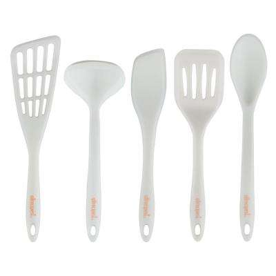 5-Piece Silicone Overmolded Utensil Set
