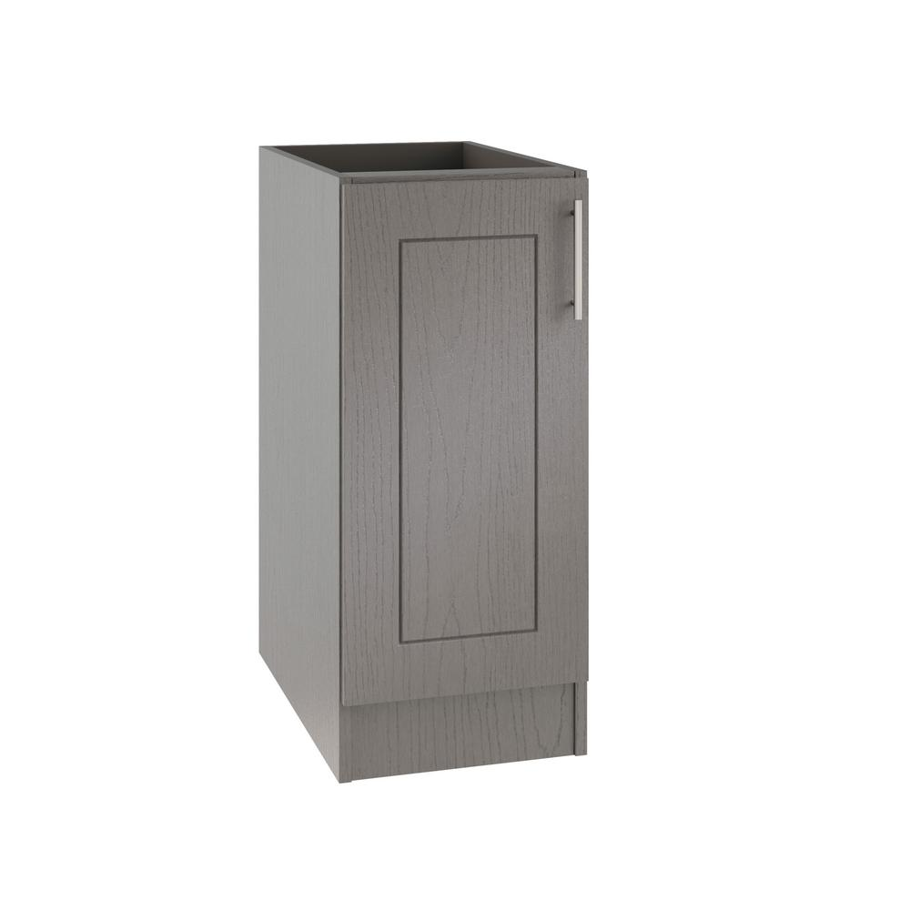 WeatherStrong Assembled Xx In Palm Beach Open Back Outdoor - Grey kitchen base cabinets