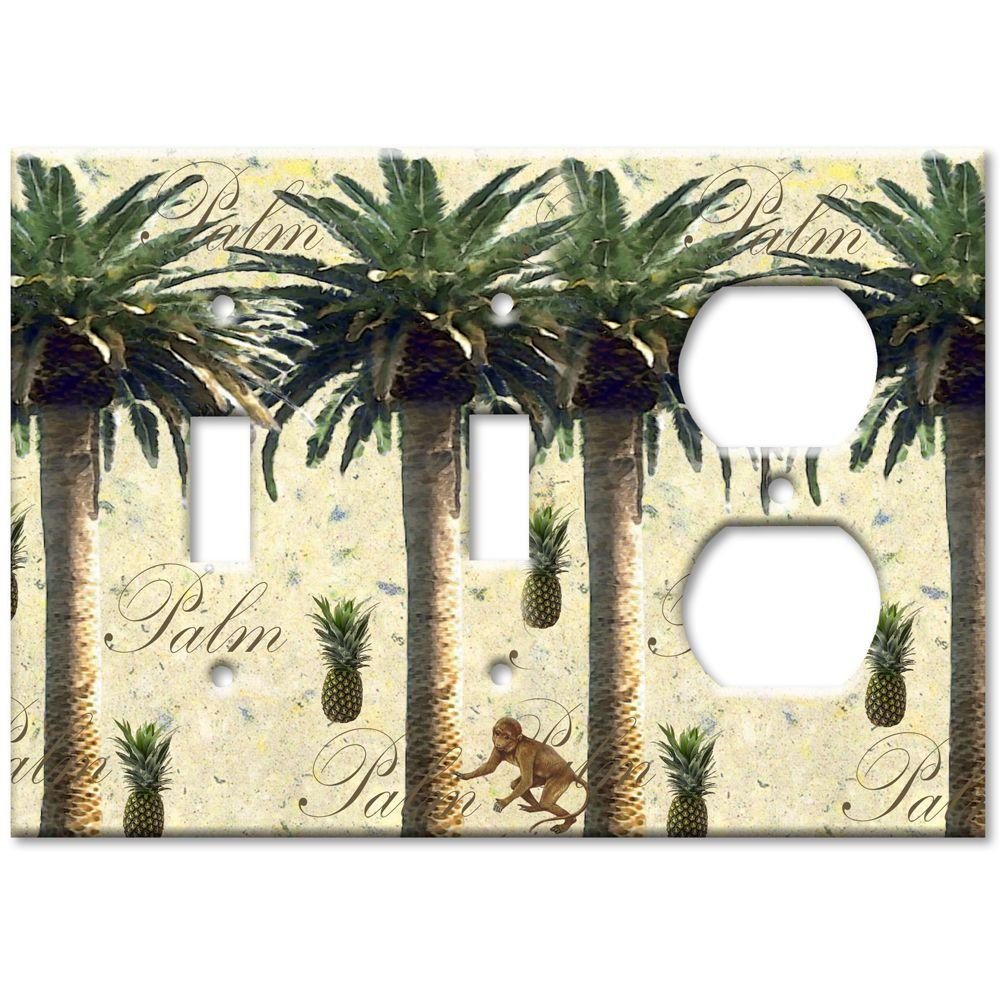 Art Plates Palm Tree 2 Switch/Outlet Combo Wall Plate