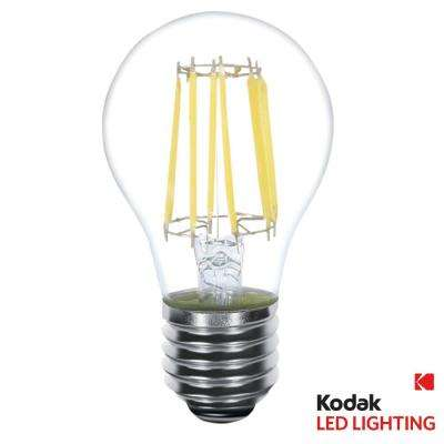60W Equivalent Warm White A19 Clear Filament Dimmable LED Light Bulb