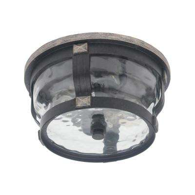McCarthy 2-Light Bronze Outdoor Flushmount