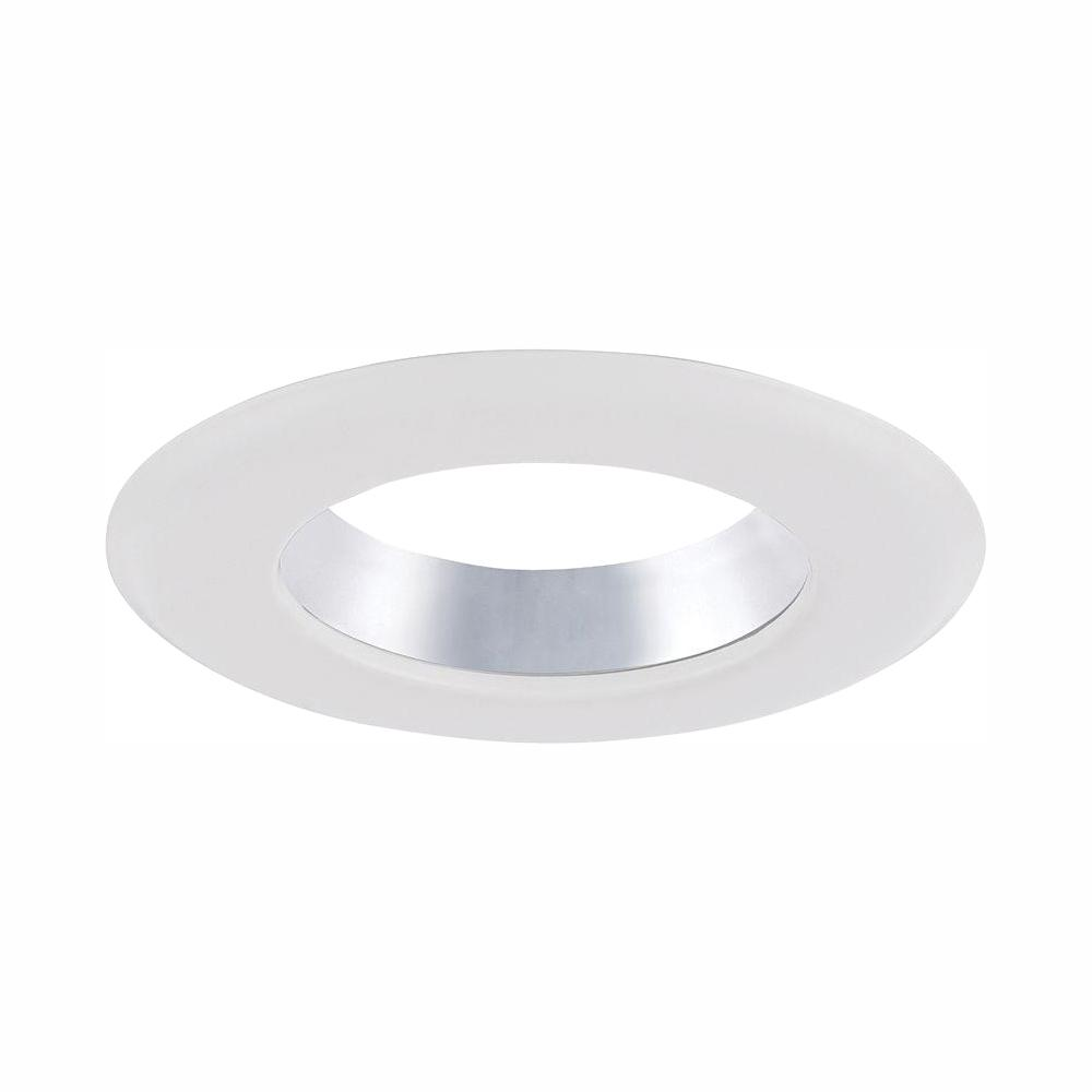 Envirolite 4 In Decorative Specular Clear Cone On White Trim Ring For Led Recessed Light With Trim Ring