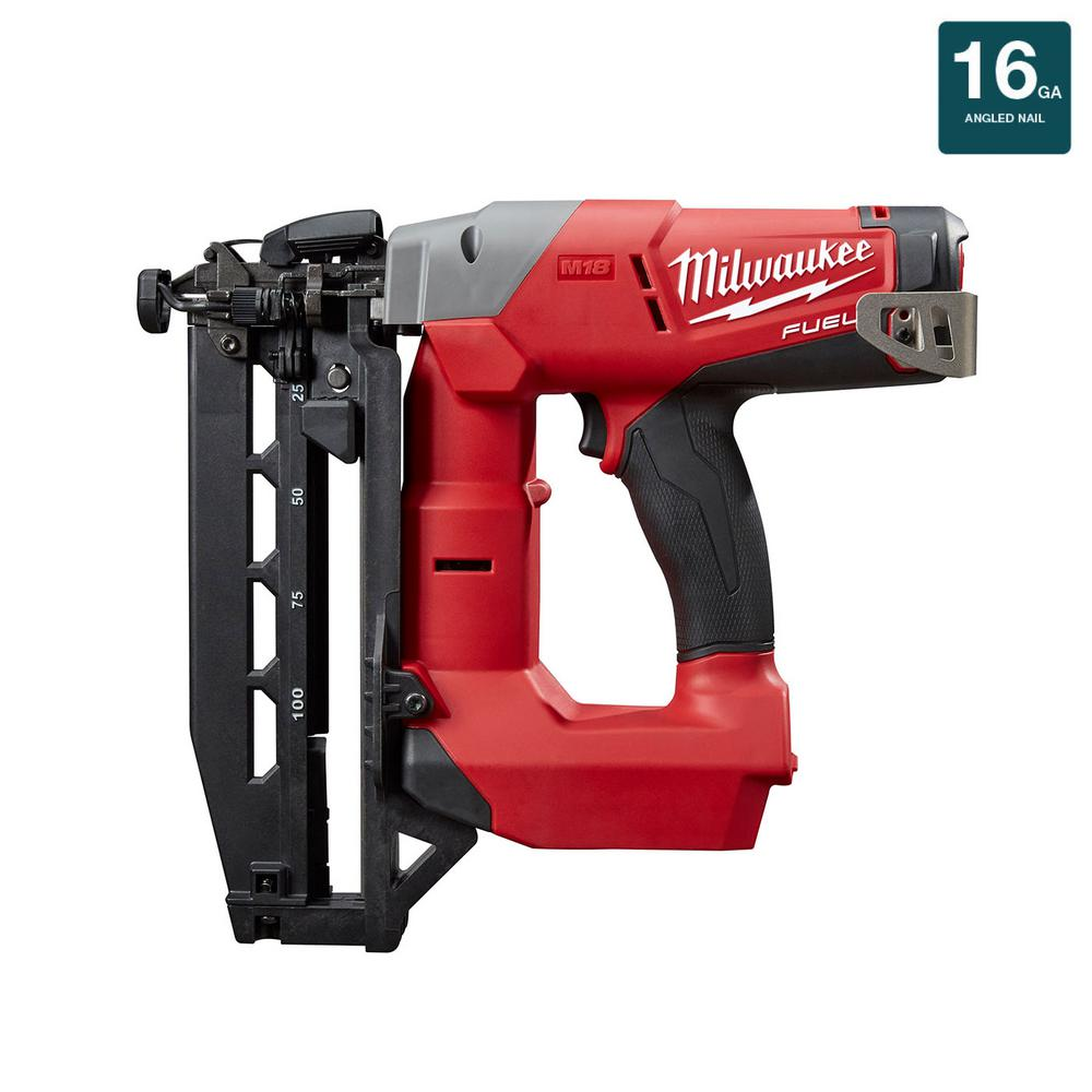 Milwaukee M18 FUEL 18-Volt Lithium-Ion Brushless Cordless 16-Gauge Straight Finish Nailer (Tool Only)