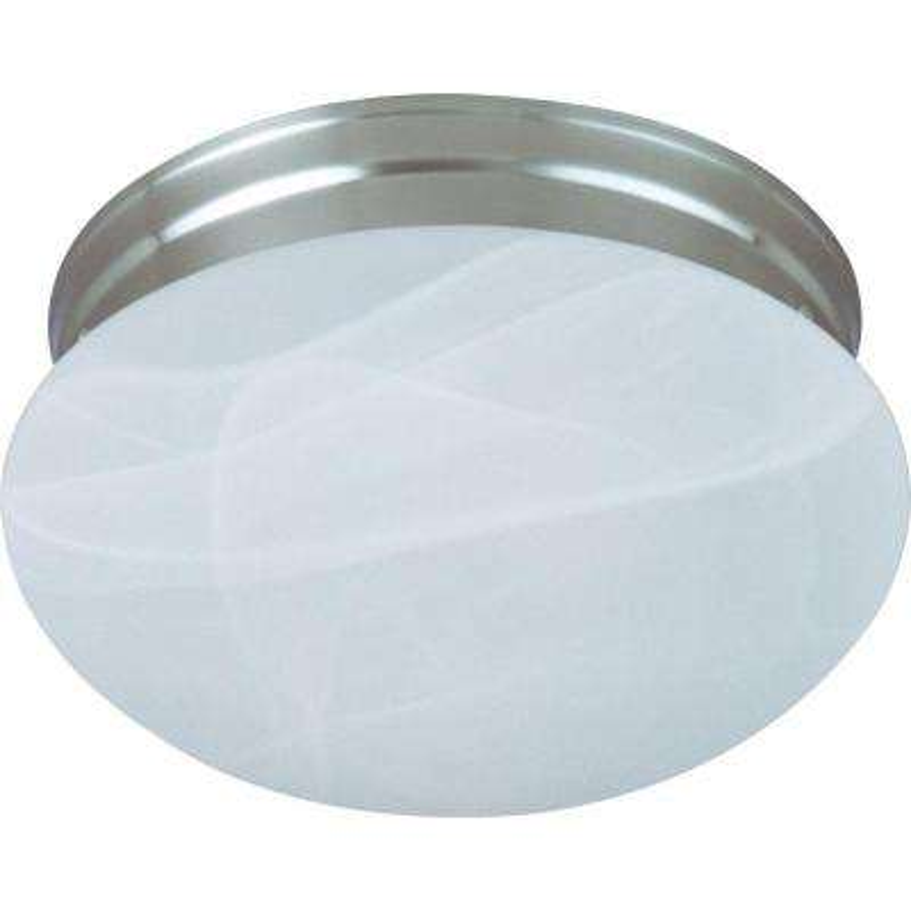 Essentials 1-Light Satin Nickel Flushmount